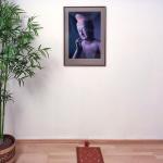 Yogahaus - Buddhabild im Erdgeschoss